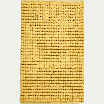 Tapis de bain en coton et polyester recyclés - beige nèfle 50x80cm-JAN