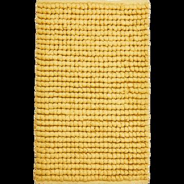 Tapis de bain en coton beige nèfle 80x50cm-JAN