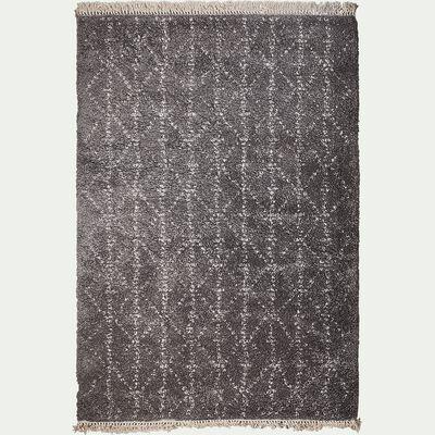 Tapis à franges inspiration berbère - gris 120x170cm-mel
