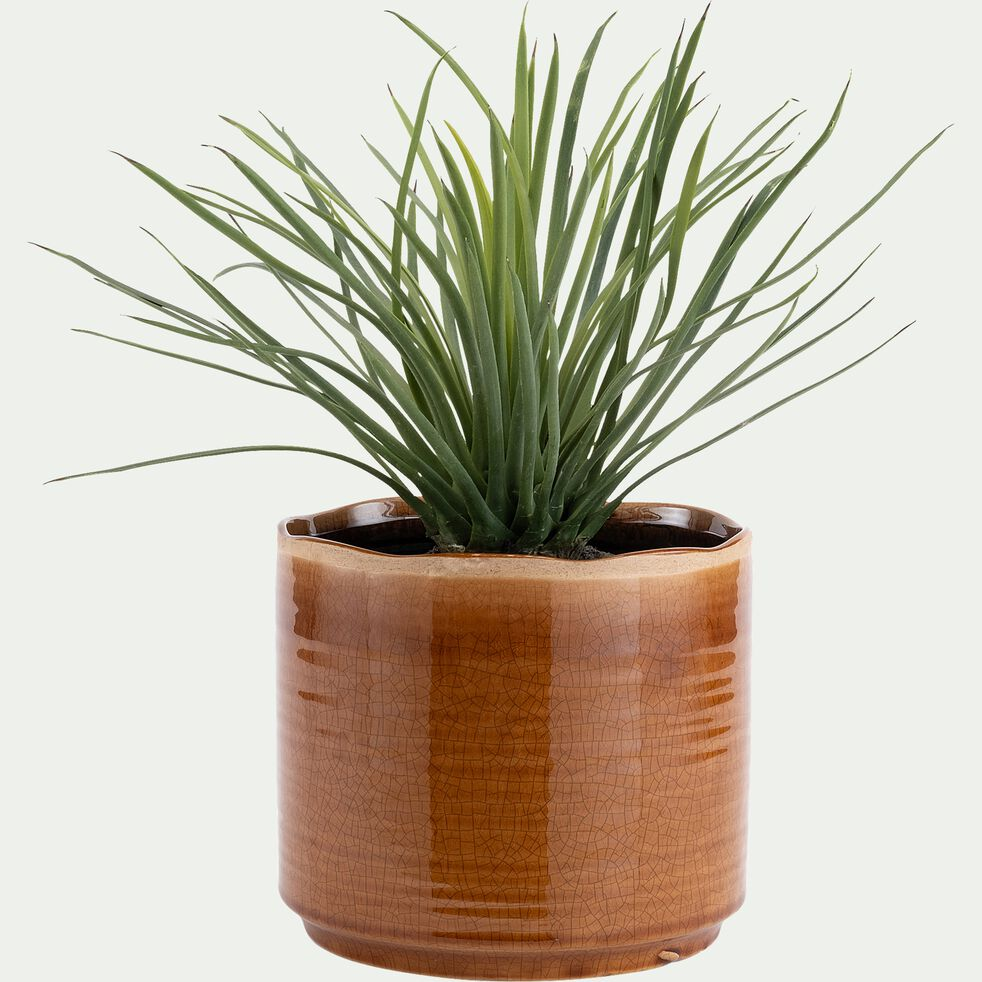 Pot en céramique - marron camel D20xH18cm-PACHHAM