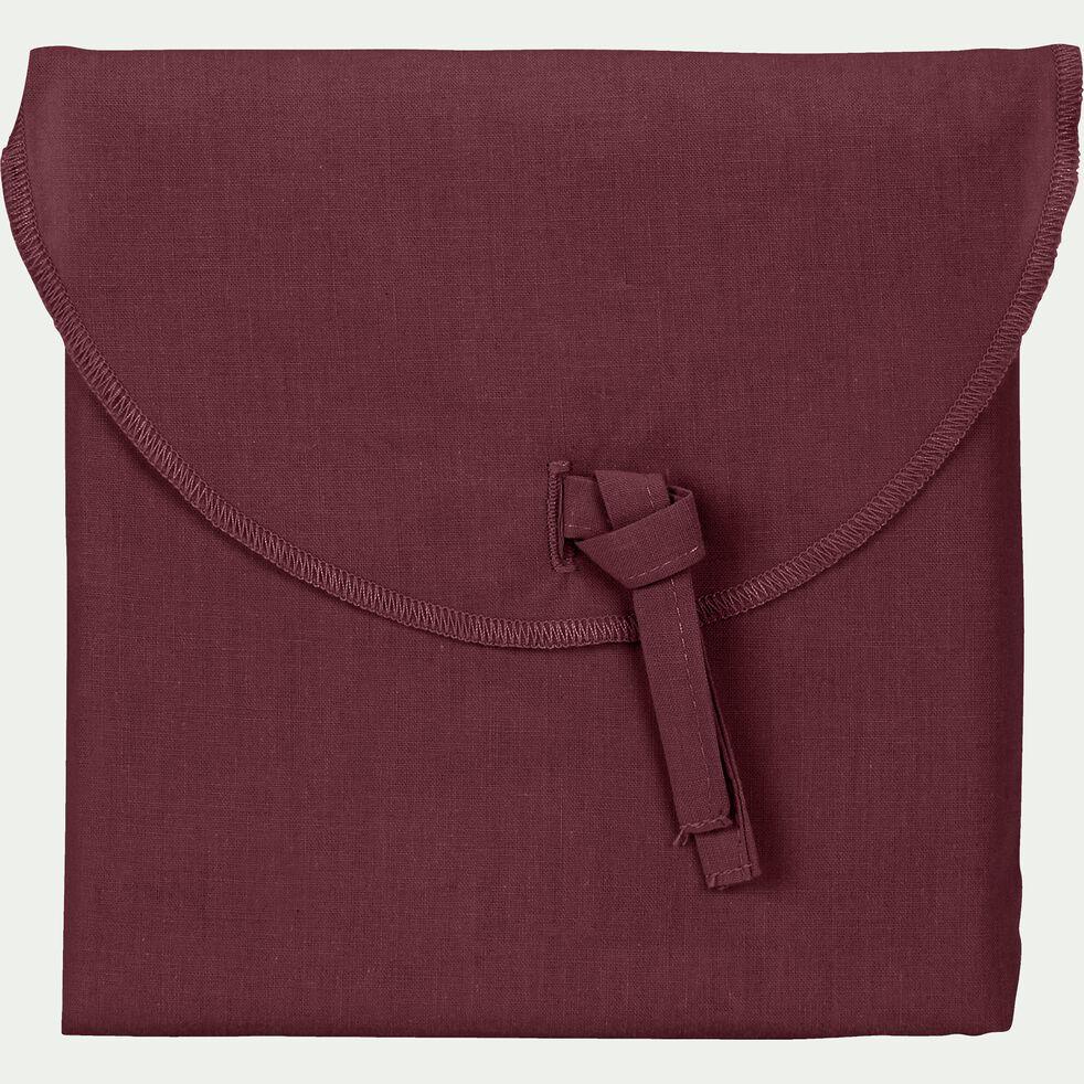 Lot de 2 taies d'oreiller en coton Rouge sumac 50x70cm-CALANQUES