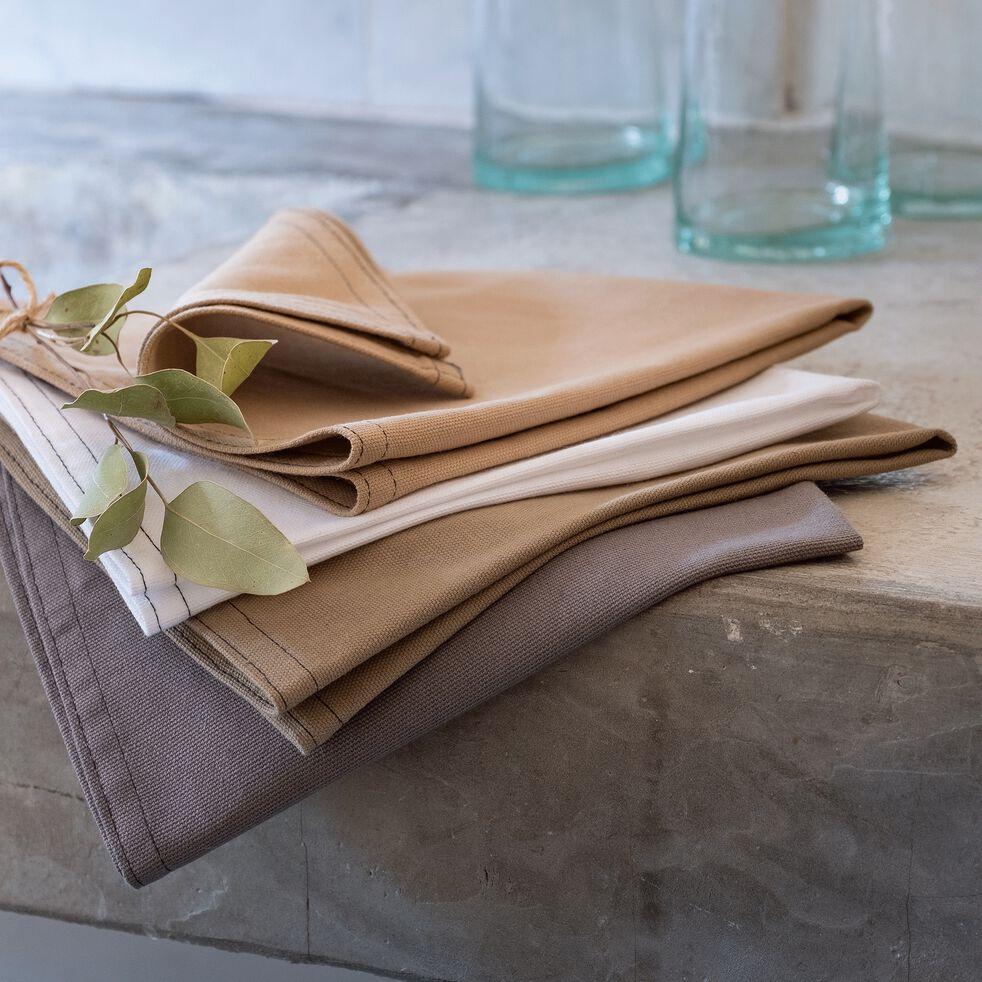 Serviette de table en coton beige alpilles 41x41cm-VENASQUE
