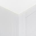 Meuble de rangement avec une structure et façade en pin massif blanc-LISON