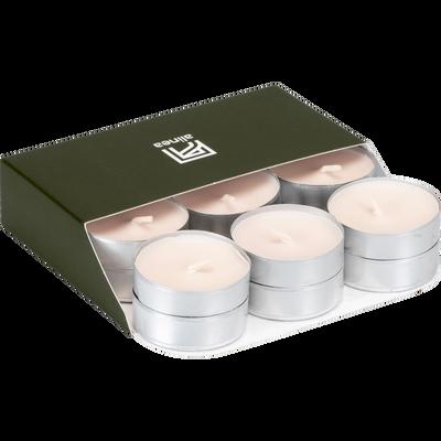 18 bougies chauffe-plats blanc nougat-HALBA