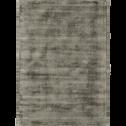 Tapis moiré vert cèdre 120x170cm-EDEN
