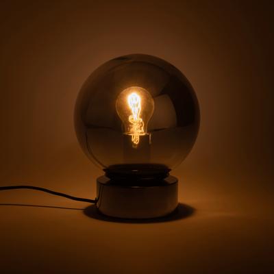 Lampe en verre fumé D20cm-JORIT