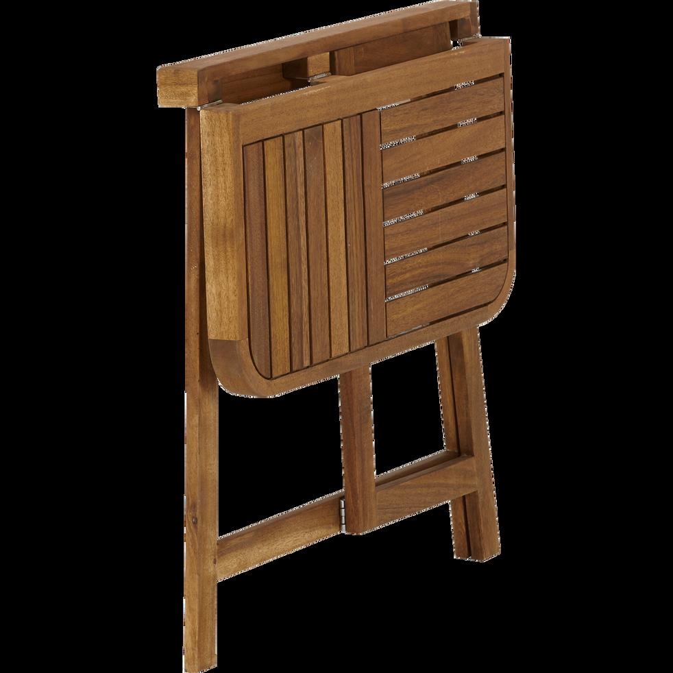Demi table haute d'appoint pliante en acacia huilé (2 places)-Youk