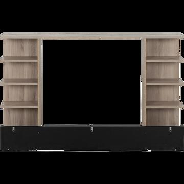 Tête de lit rangeante pour lit Castel 120x200cm-CASTEL