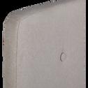 Tête de lit recouvert de tissus Gris foncé-FLO