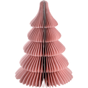 Sapin en papier rose à poser H18cm-TAYUMAN