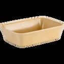 Plat à four rectangulaire en grès beige nefle 32x20cm-ALVARA