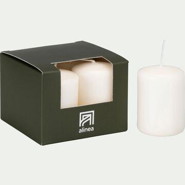 Lot de 4 bougies votives - blanc ventoux-HALBA