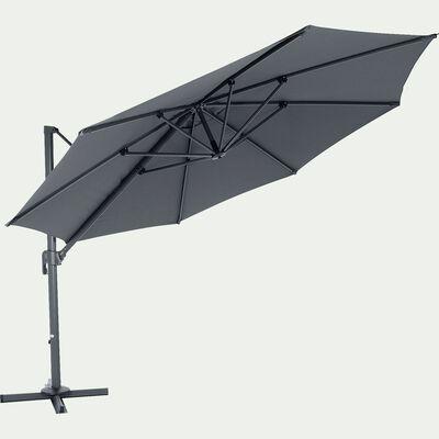 Parasol déporté D3,5m - gris ardoise-IMPERIA