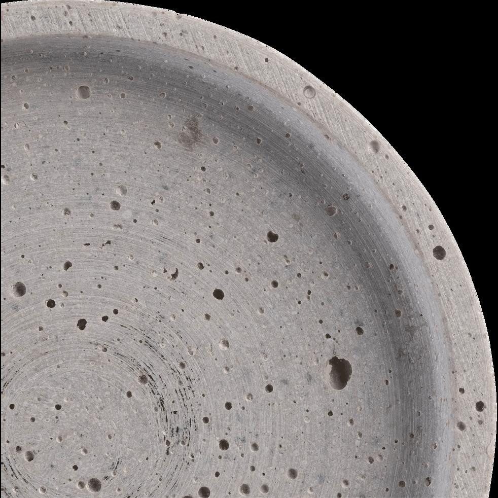 Plateau rond effet béton D13cm-CALCIS