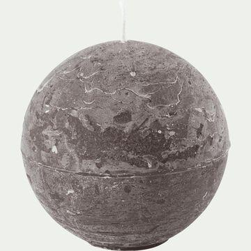 Bougie ronde brun châtaigner D10cm-BEJAIA