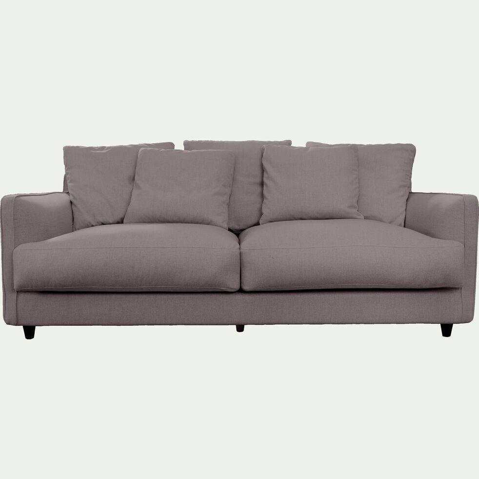 Canapé 3 places fixe en tissu - gris borie-LENITA