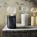 Lampe en marbre noir H12,5xD9cm-PRAO