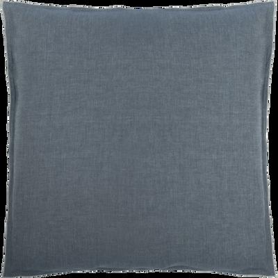 Lot de 2 taies d'oreiller en coton chambray Gris anthracite - 63x63 cm-FRIOUL