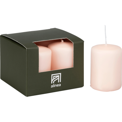 4 bougies votives rose sable-HALBA