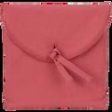 Lot de 2 taies d'oreiller en coton Rouge arbouse 65x65cm-CALANQUES