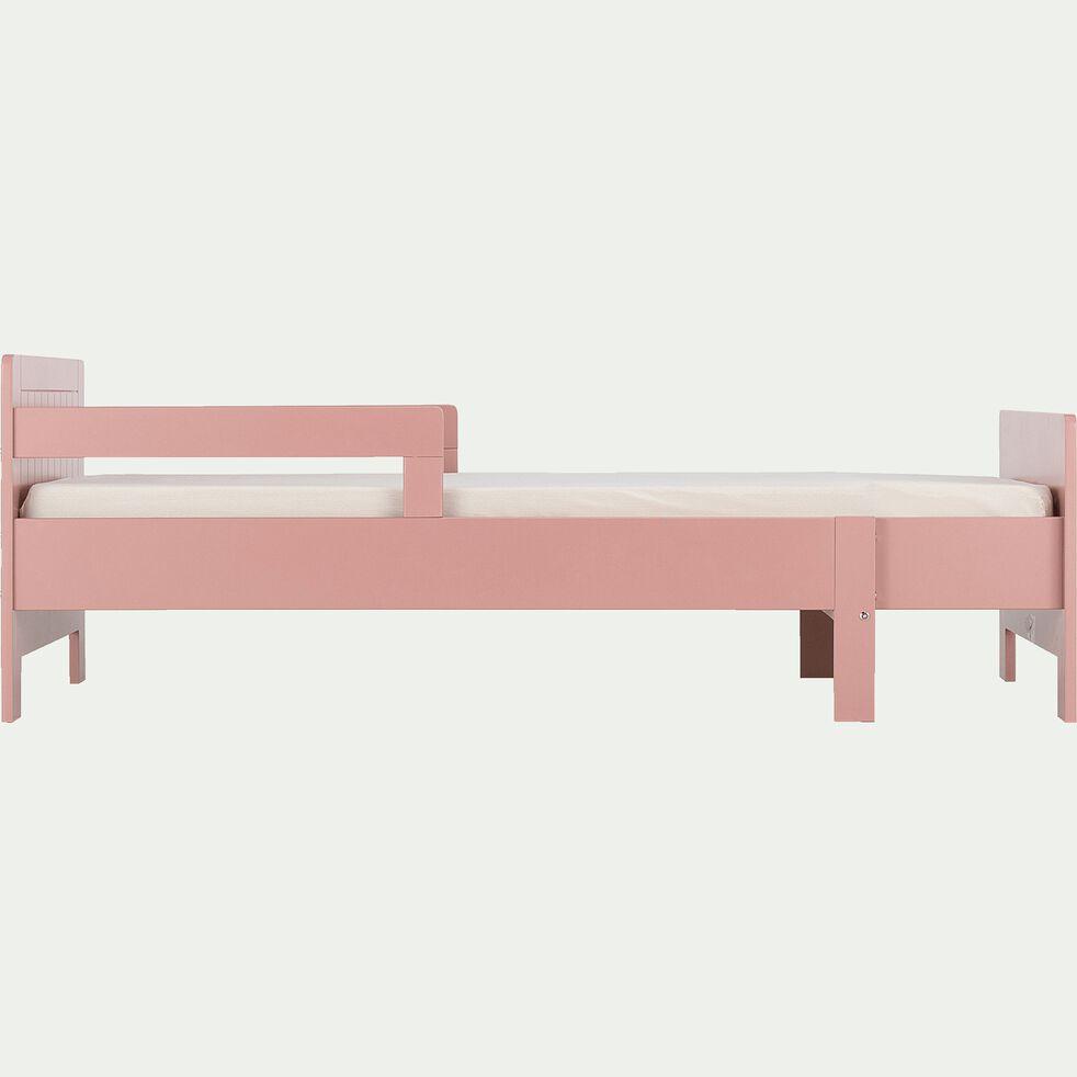 lit 1 place évolutif en pin 3 positions pour enfant - rose salina-POLLUX
