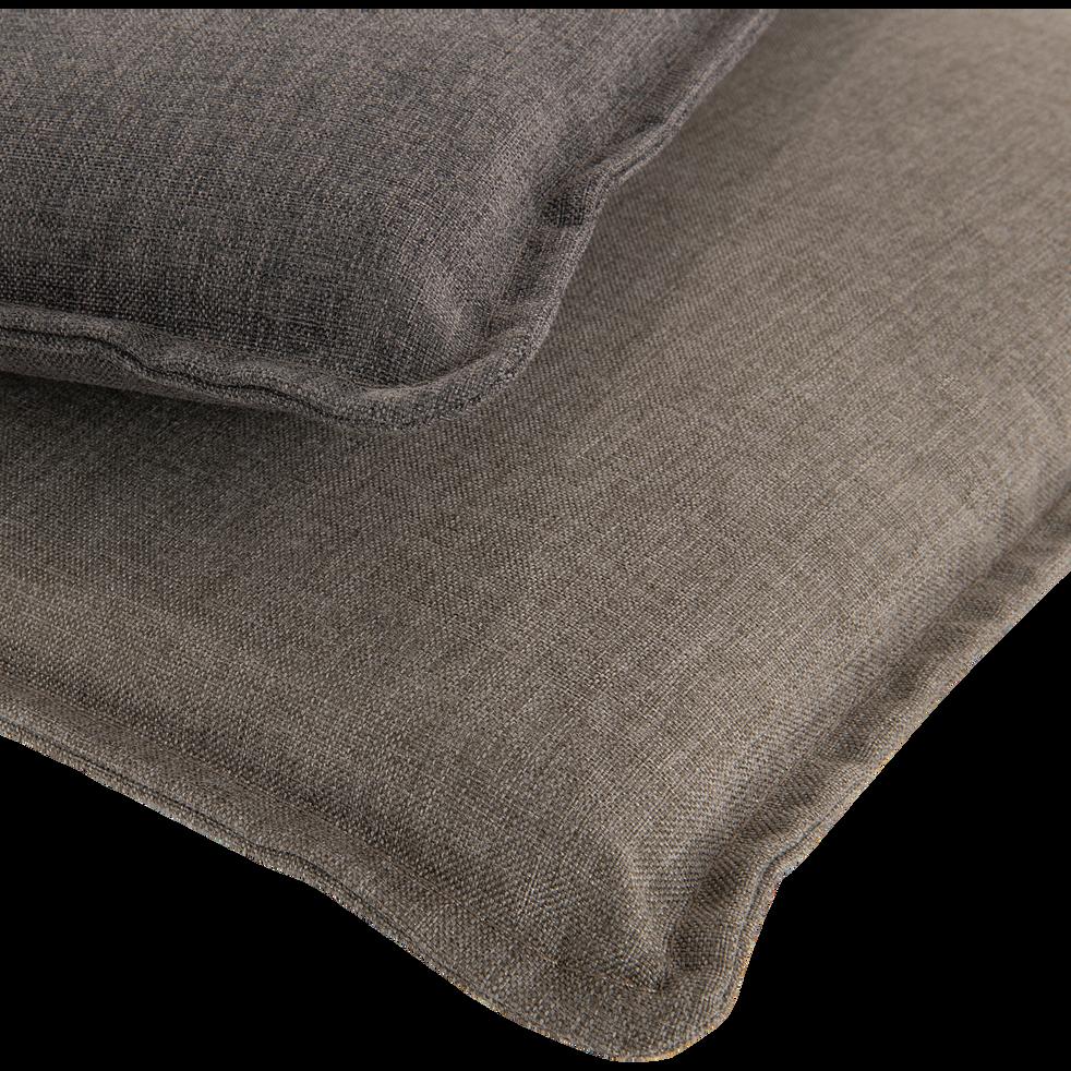 OPIO - Coussin de chaise déperlante taupe 42x42cm