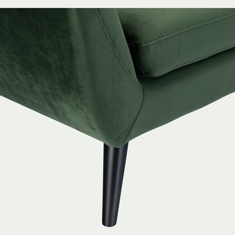 Canapé 2 places fixe en velours - vert cèdre-SHELL