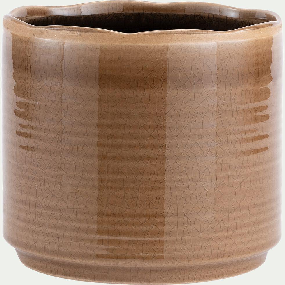 Pot en céramique - gris clair D20xH18cm-PACHARI