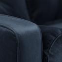 Canapé d'angle convertible réversible en velours bleu myrte-ROMEO