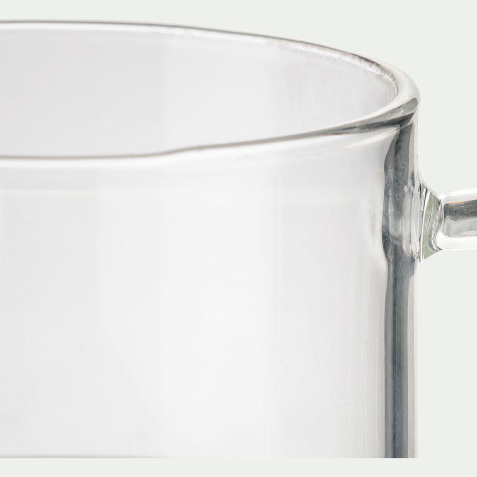 Tasse avec sous-tasse en verre transparent 15cl-AUBER