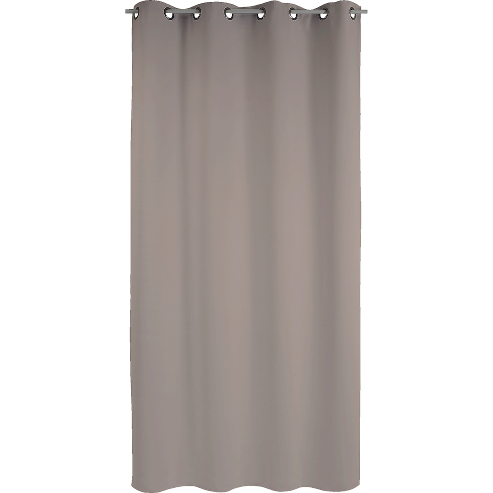 Rideau anti bruit oeillets taupe 135x250cm chut - Rideau anti bruit efficace ...