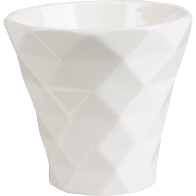Mug géométrique en porcelaine grise 20cl-OCTO