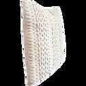 Coussin en coton beige 45x45cm-CORDY