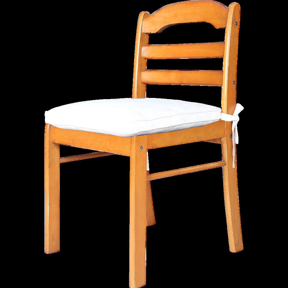 galette de chaise carr e en coton couleur lin best galettes de chaises alinea. Black Bedroom Furniture Sets. Home Design Ideas