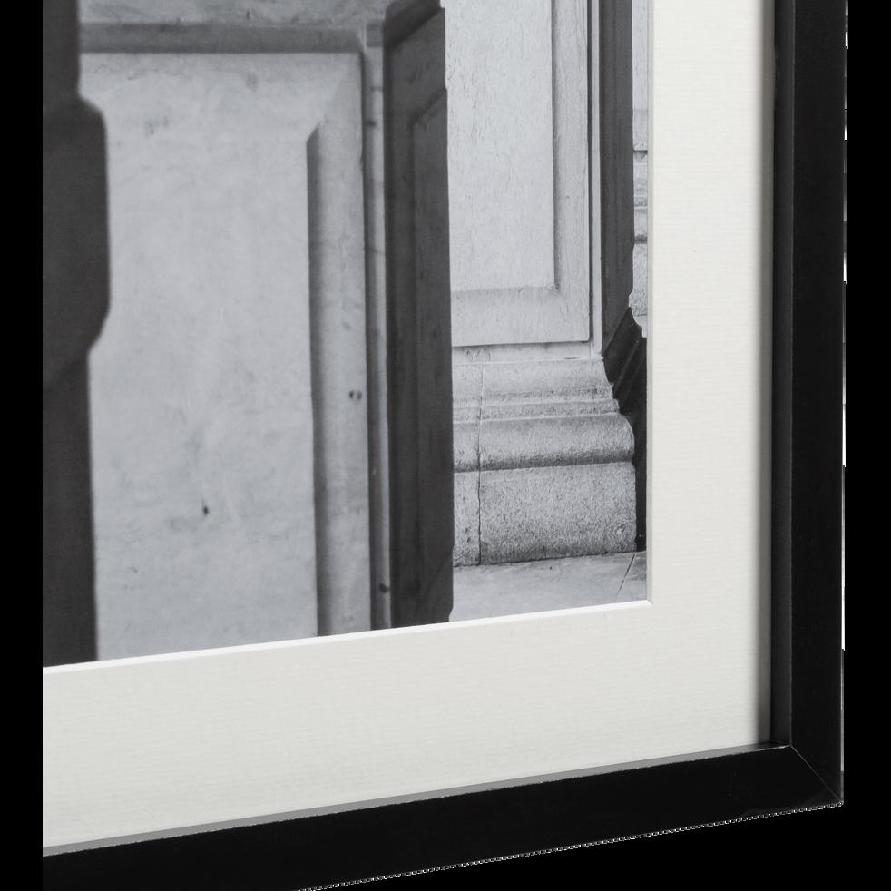 Image encadrée noir et blanc 40x50cm-CESAR