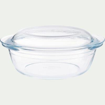 Cocotte ronde en verre borosilicate 2,3L-AZET