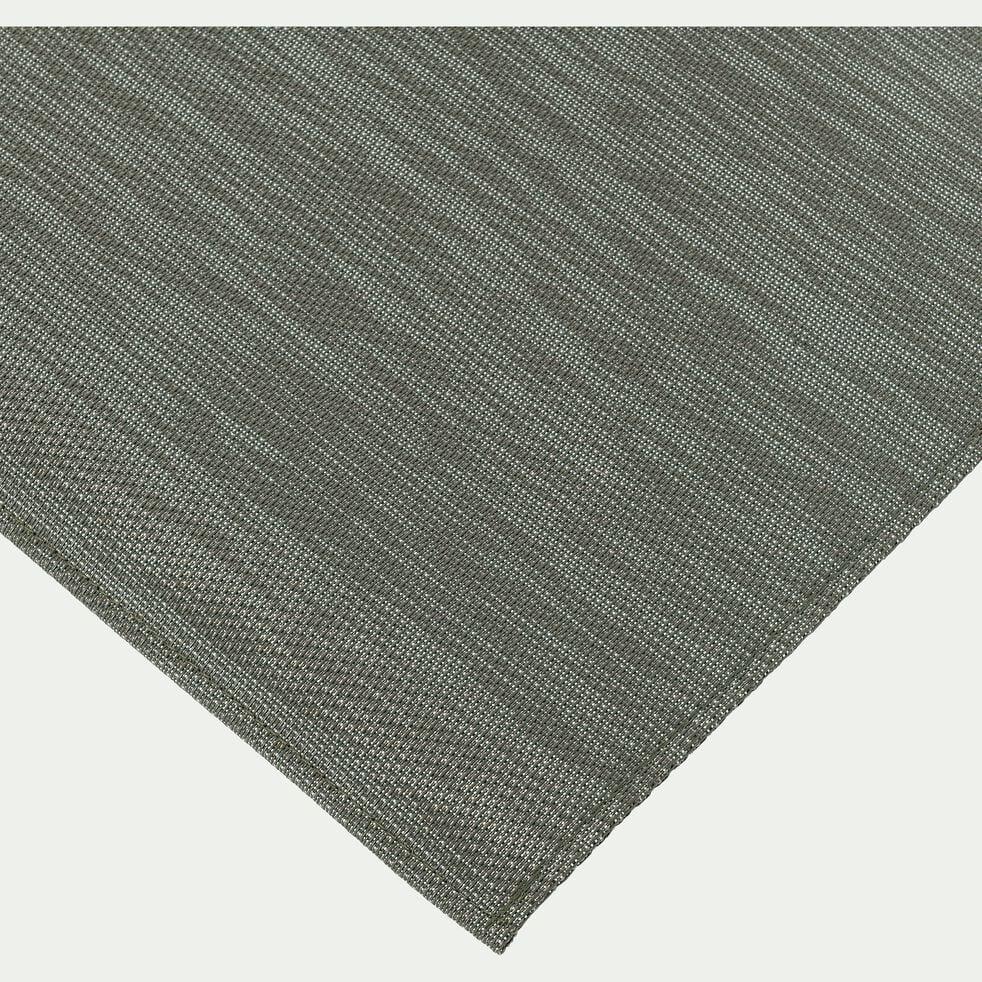 Tapis de cuisine effet tissé vert 50x120cm-VITOU