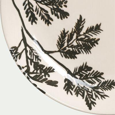 Plat creux en faïence - blanc D30cm-FOGLIA