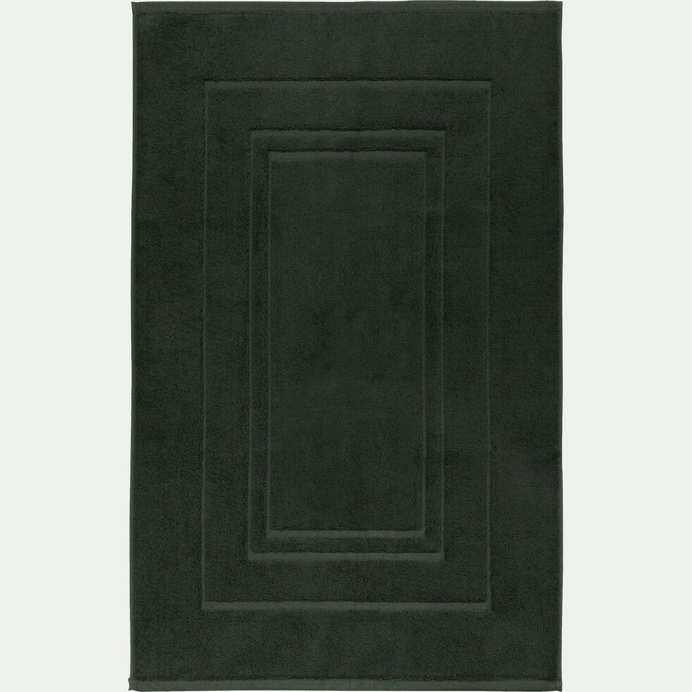 Tapis de bain en coton - vert cèdre 50x80cm-AZUR