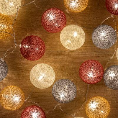 Guirlande lumineuse en coton - multicolore L90cm-Ibasco