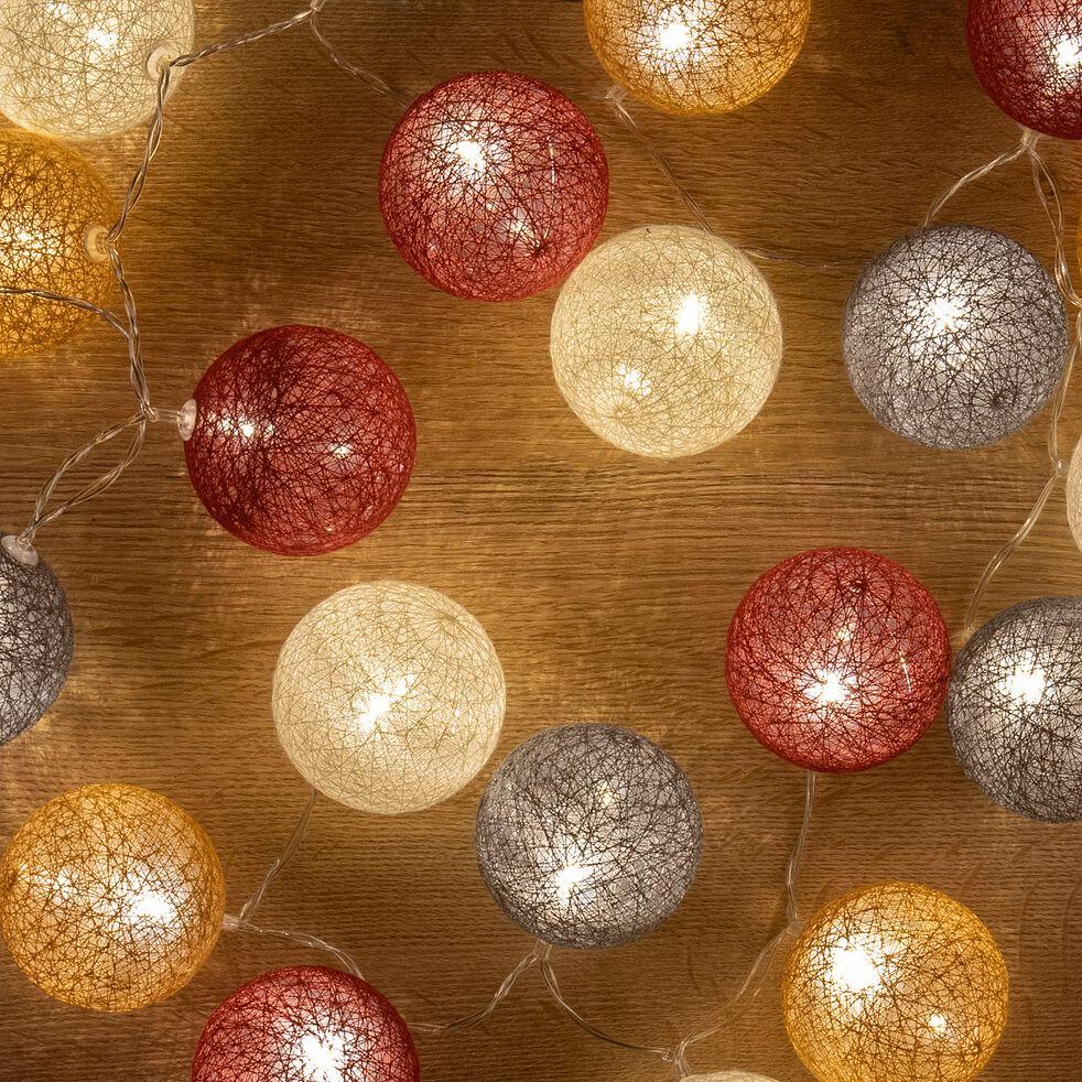 Guirlande lumineuse multicolore en coton L90cm-Ibasco