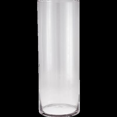 Vase en verre transparent H50cm-SABBIA