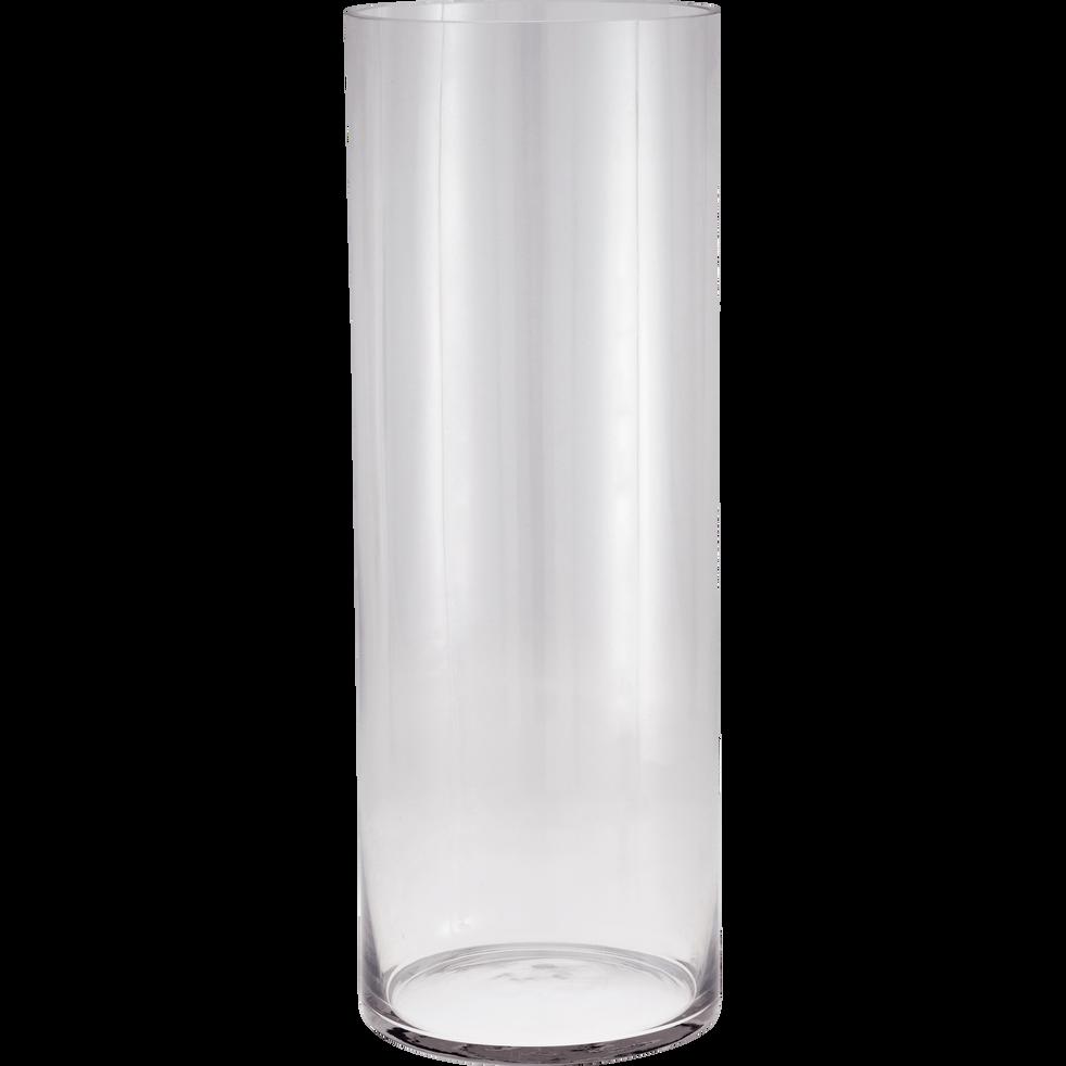 vase en verre transparent h50cm sabbia catalogue storefront alin a alinea. Black Bedroom Furniture Sets. Home Design Ideas