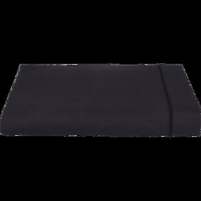 Drap plat en coton Gris calabrun 180x300cm-CALANQUES