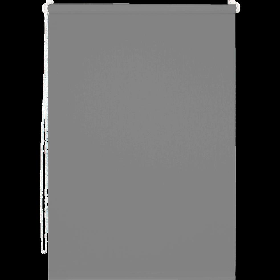 Store enrouleur occultant gris 37x170cm-EASY OCC