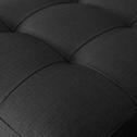 Pouf en tissu gris avec coffre-MAURO
