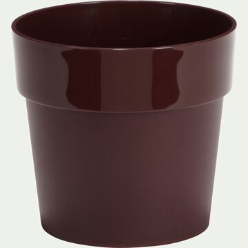 Cache-pot rouge sumac en plastique H13xD14cm-B FOR