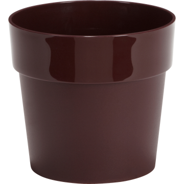 Pot rouge sumac en plastique H13xD14cm-B FOR