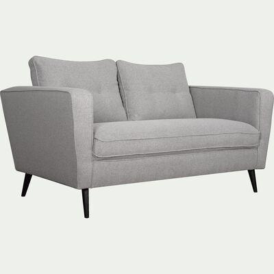 Canapé fixe 2 places en tissu - gris moyen-BARTHOLE