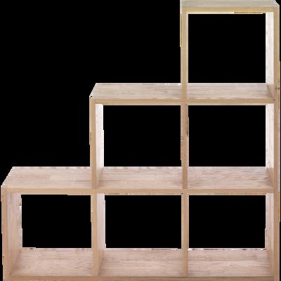 Étagère escalier en chêne-Tassia
